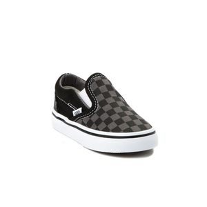 Toddler slip on checkered vans